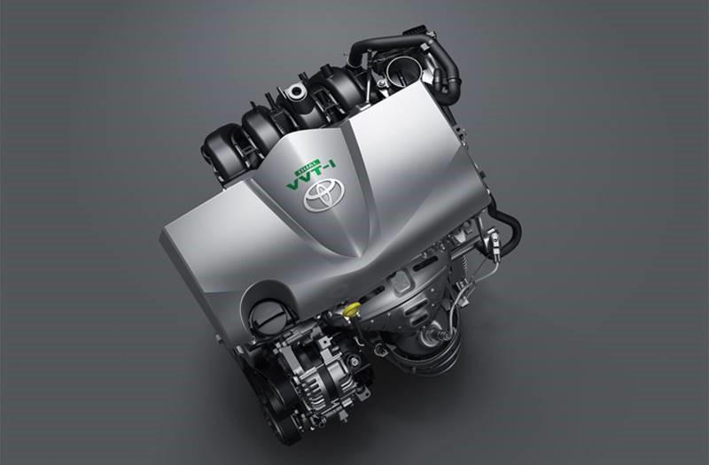 เครื่องยนต์บล๊อกใหม่ รหัส 2NR-FBE ขนาด 1.5 ลิตร 1,496 ซีซี. 4 สูบ แถวเรียง DOHC 16 วาล์ว Dual VVT-i ให้พละกำลังสูงสุด 108 แรงม้า ที่ 6,000 รอบ/นาที แรงบิด 140 นิวตันเมตร ที่ 4,200 รอบ/นาที จับคู่กับเกียร์อัตโนมัติ CVT ล็อคพูเล่ย์ 7 จังหวะ รองรับน้ำมันสูงสุด E85