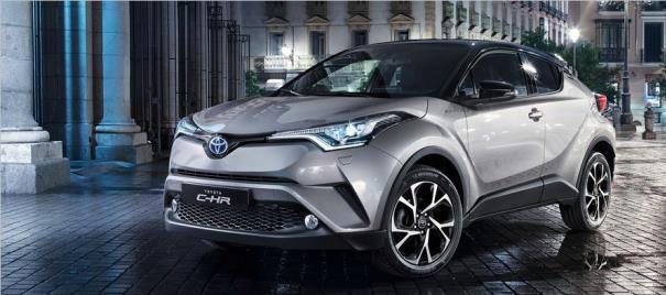 Toyota C-HR 2017 โดดเด่นลลตัว