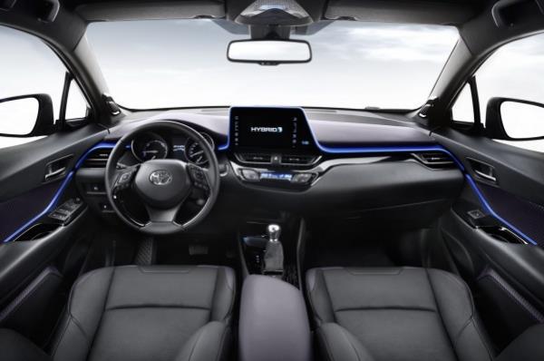 ภายในห้องโดยสาร Toyota C-HR 2017