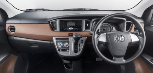 ภายในห้องโดยสารของ Toyota Calya 2016