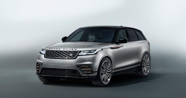 มุมมองด้านหน้าของ Range Rover Velar 2017