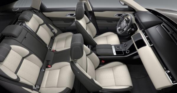 กานออกแบบข้างในห้องโดยสารของ Range Rover Velar 2017