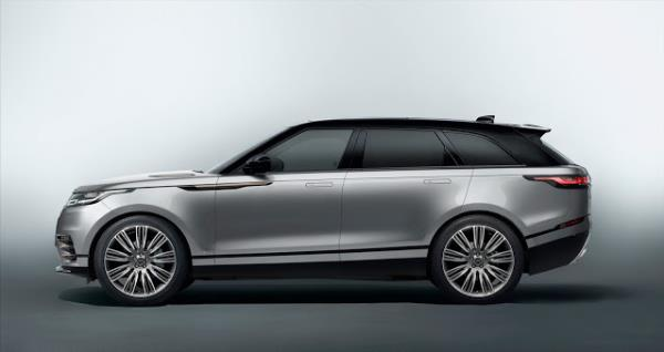 มุมมองด้านข้างของ Range Rover Velar 2017