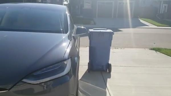 ประตู Falcon Wing ใน Tesla Model X