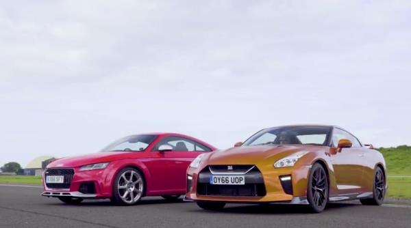 """Nissan GT-R"" VS ""Audi TT RS"""