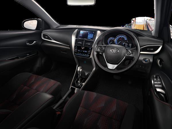 ภายในห้องโดยสารของ Toyota Yaris ATIV 2017