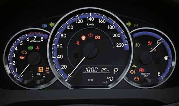 มาตรวัดของ Toyota Yaris Hatchback 2017