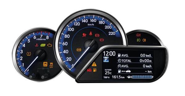 มาตรวัดของ Toyota Yaris ATIV 2017