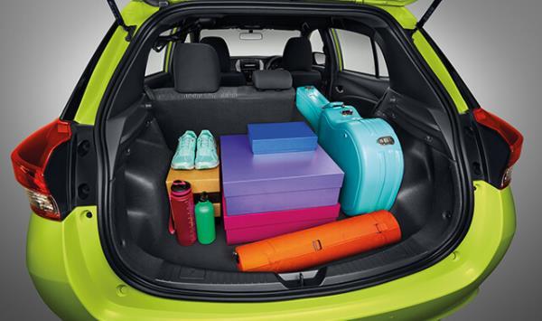 พื้นที่เก็บของของ Toyota Yaris Hatchback 2017