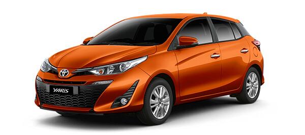 NEW TOYOTA YARIS สี Orange Metallic (สีส้ม)