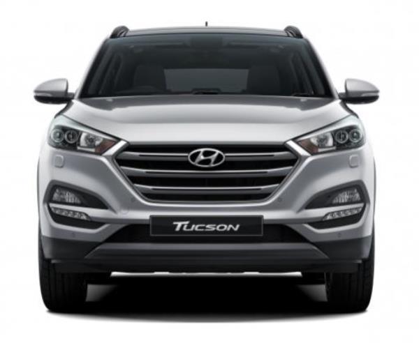 มุมมองด้านหน้าของ Hyundai Tucson 2017 ใหม่