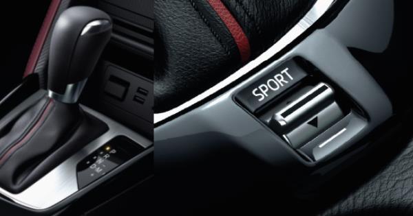 สวิตซ์ Drive Selection สามารถเลือกขับขี่ในโหมด Sport ได้ เมื่อต้องการเร่งแซง เฉพาะเครื่องยนต์เบนซิน