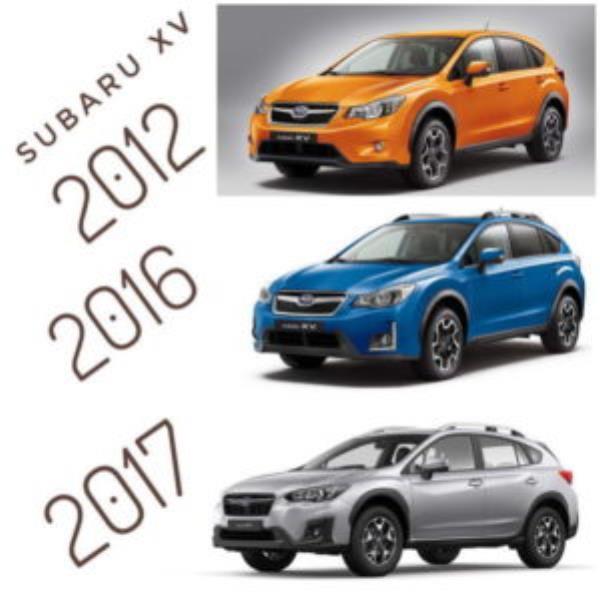 พัฒนาการรูปลักษณ์ภายนอก Subaru-XV