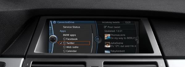 BMW ConnectedDrive ฟรีแอพพลิเคชั่นจากบีเอ็มดับเบิลยูที่รวม Facebook Twitter