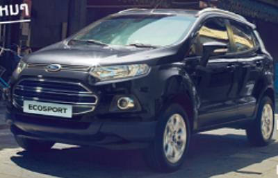 Ford EcoSport สีดำ