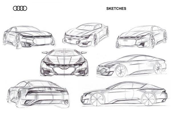 ภาพ Sketches ของ Audi GT 2020