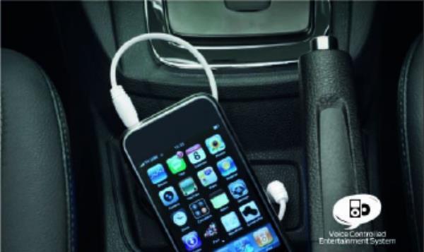 การเชื่อมต่อ AUX USB และ iPod พร้อมระบบชาร์จไฟในตัว