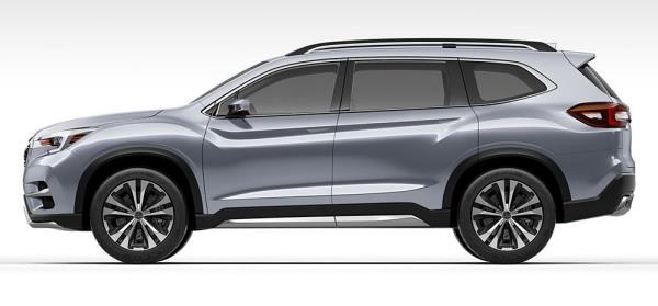 มุมมองด้านข้างของ Subaru Ascent 2018