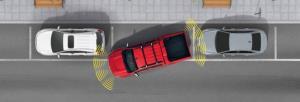 เซ็นเซอร์หน้า-หลัง 8 จุดช่วยในการนำรถเข้าจอด