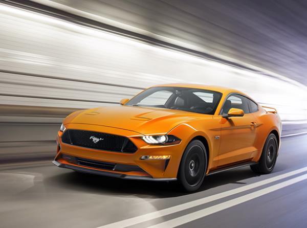 กานรออกแบบภายนอกของ Ford Mustang GT 2018