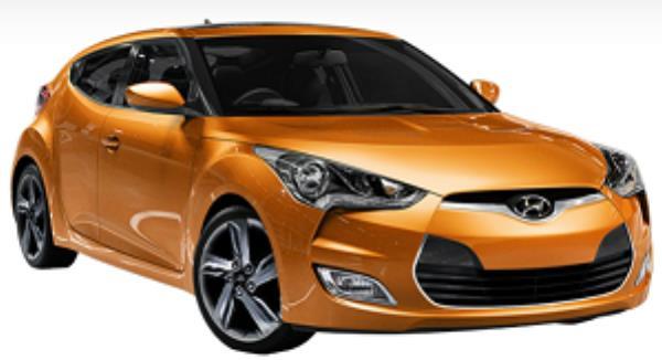 Hyundai Veloster สีส้ม