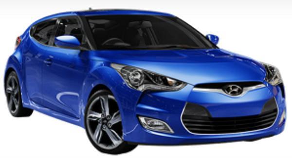 Hyundai Veloster สีน้ำเงิน