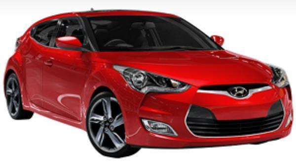 Hyundai Veloster สีแดง
