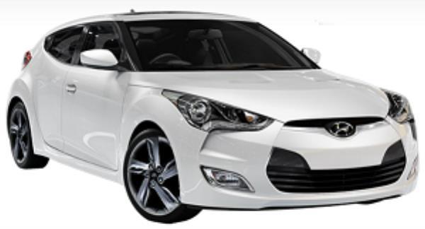 Hyundai Veloster สีขาว
