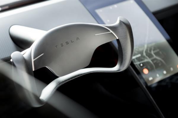 Tesla Roadster the interior