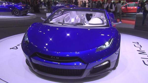 รถยนต์ Super Car พลังงานไฟฟ้าที่กรุงโตเกียว