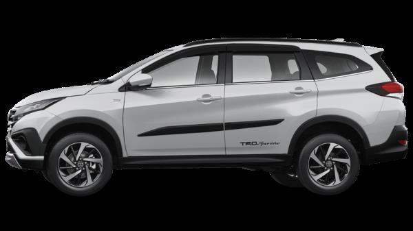 มุมมองด้านข้างของ Toyota Rush 2018 โฉมใหม่