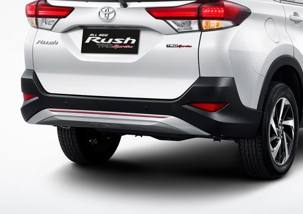มุมมองด้านท้ายของ Toyota Rush 2018 โฉมใหม่
