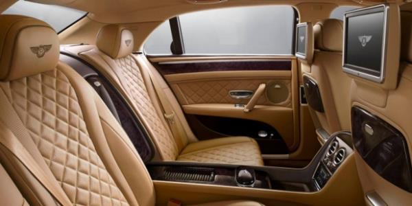 Bentley Flying Spur V8 Standard Interior ห้องผู้โดยสารด้านหลัง