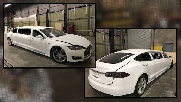 Limousine Tesla Model S คันแรกของโลก