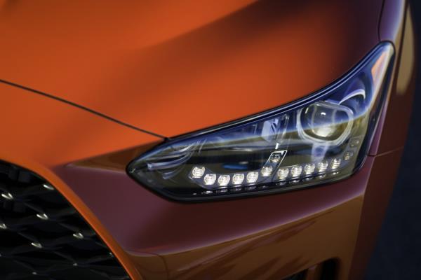 มุมมองภายนอกของ Hyundai Veloster 2018