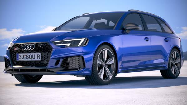 รูปลักษณ์ความหล่อสไตล์  Station Wagon ของ Audi RS4 Avant  2018
