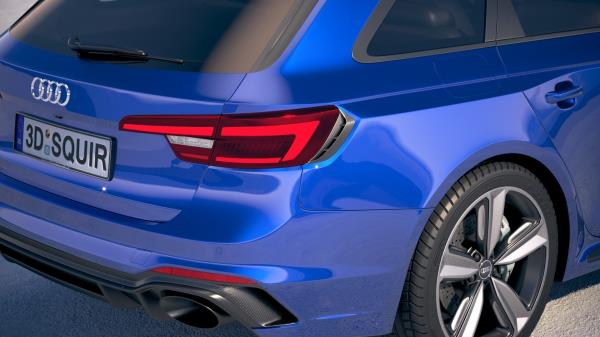 มุมมองภายนอกของ Audi RS4 Avant