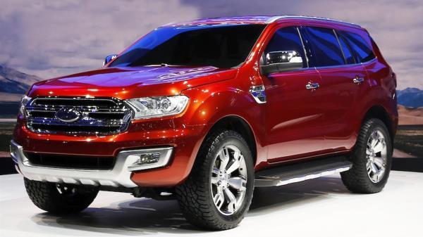 รูปลักษณ์ที่แข็งแกร่งของ All-New Ford Everest