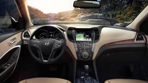 ดีไซน์ภายนใน Hyundai Santa Fe 2018 ยังคงโดดเด่น
