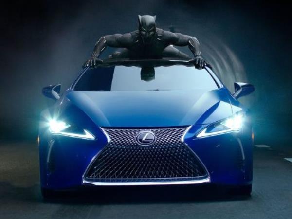 Lexus LC500 บุกตะลุยใน Black Panther