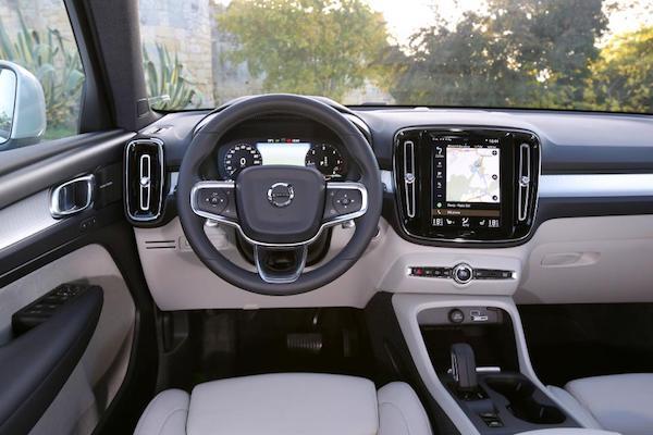 การออกแบบภายใน Volvo XC40