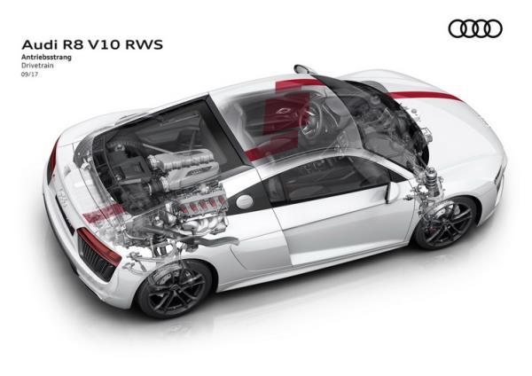 เครื่องยนต์ของ Audi R8 Coupe V10