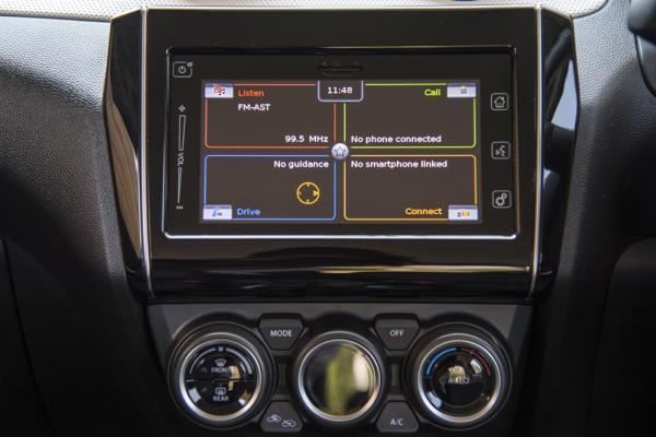 ภายในติดตั้งหน้าจอแสดงข้อมูลการขับขี่ขนาดใหญ่แบบ LCD สั่งงานด้วยปุ่ม 'INFO' บริเวณพวงมาลัย