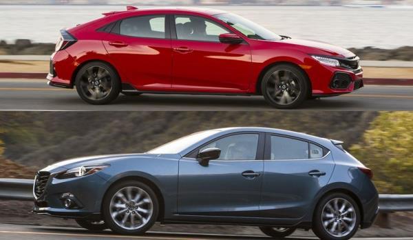 2 ค่ายดัง งัดไม้เด็ดมาประชัน Mazda 3 hatchback 2.0SP vs  Honda Civic hatchback turbo