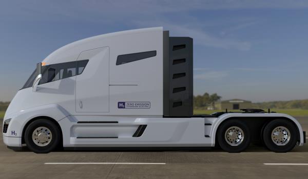 Nikola One มีหน้าตารูปลักษณ์คล้ายกับ Tesla Semi รถบรรทุกพลังงานไฟฟ้าของ Tesla