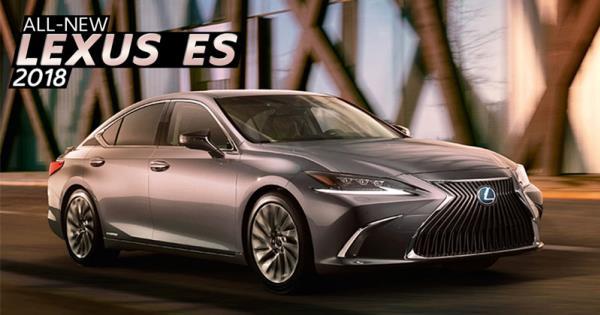 ภาพภายนอกของ Lexus ES 2018