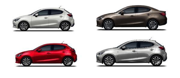 Mazda 2 2018 มีสี่สี