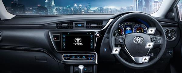การออกแบบภายในของ  Toyota Corolla Altis  2018