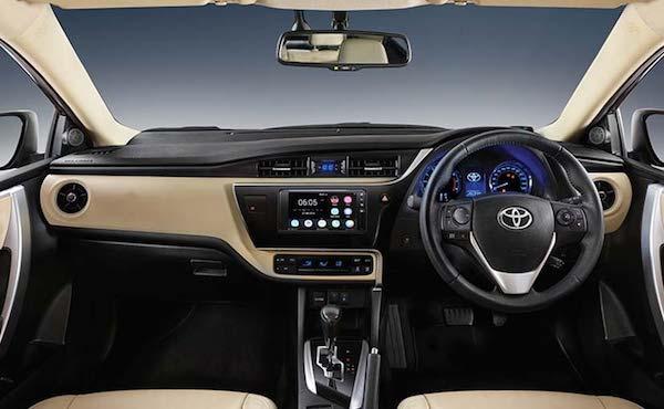 ภายในห้องโดยสาร Toyota Collora Altis 2018 ที่มีความสบายมากขึ้น