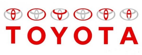 ในโลโก้ Toyota สามารถอ่านออกมาเป็น Toyota ได้ด้วย